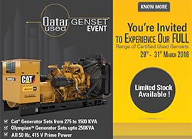 Qatar Used Genset Sales Event