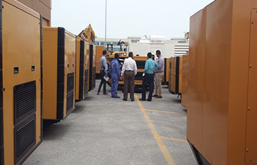 Cat Gensets on display
