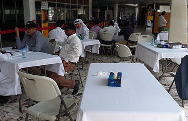 Discussions in progress at Al-Bahar Qatar Used Gensets Event